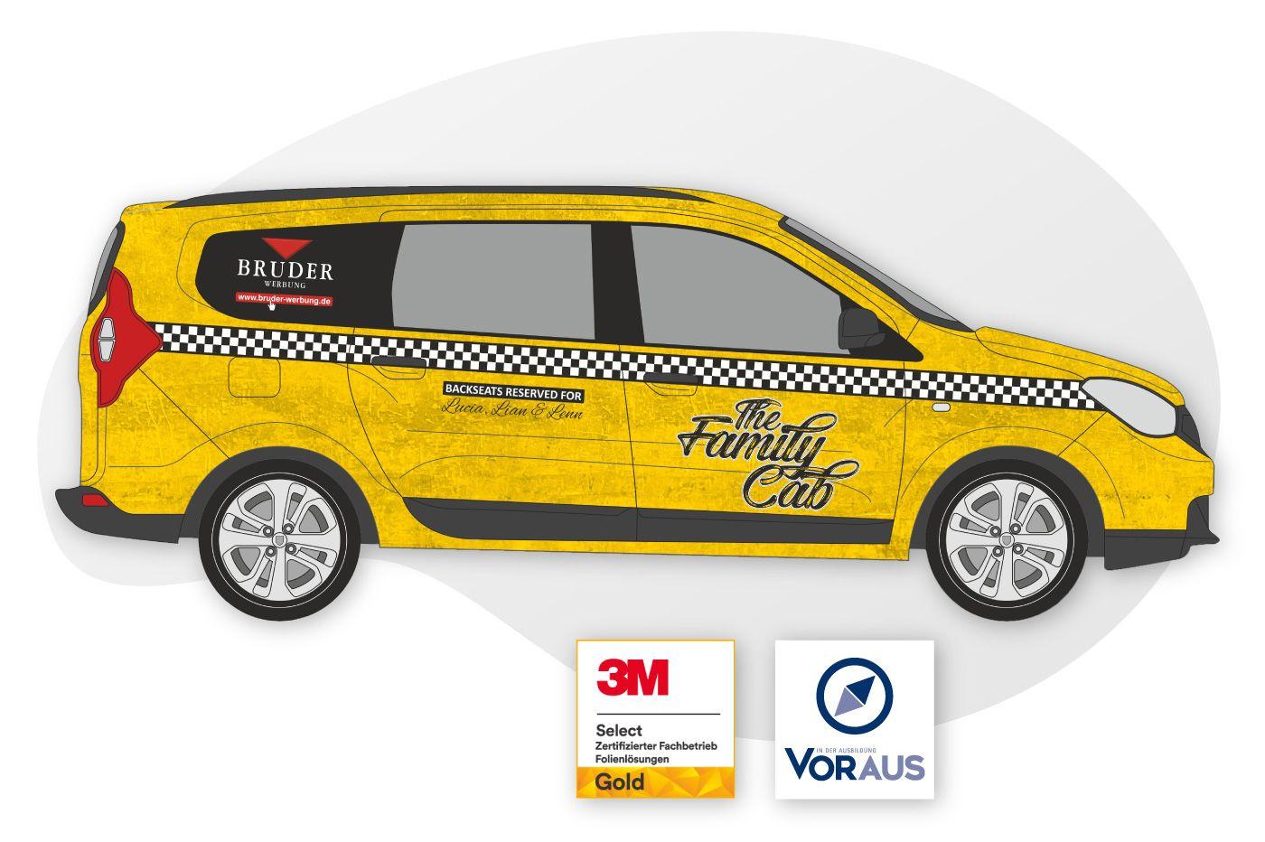 Fahrzeugbeschriftung AUtobeschriftung mit 3M Folie