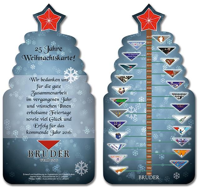 25 Jahre Bruder-Werbung Weihnachtskarte
