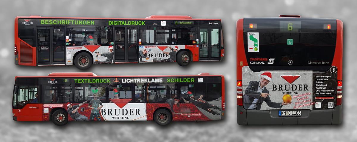Busbeschriftung Konstanz Bruder-Werbung