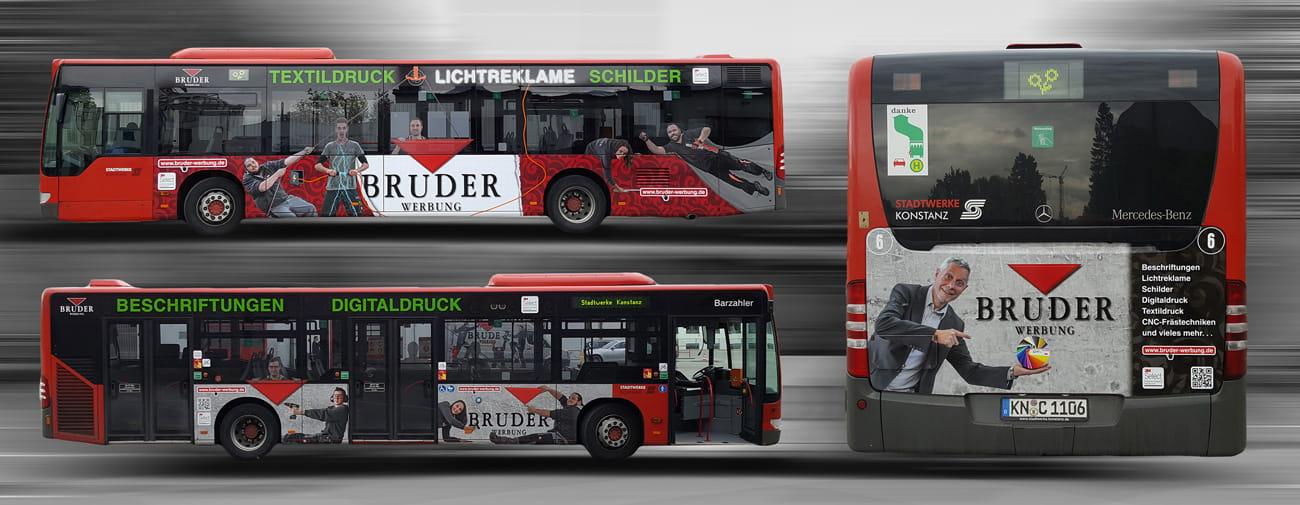 Busbeschriftung Konstanz Stadtbus