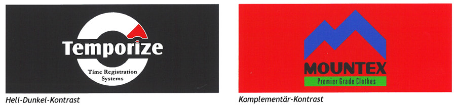 hell-dunkel Kontrast und Komplementär Kontrast