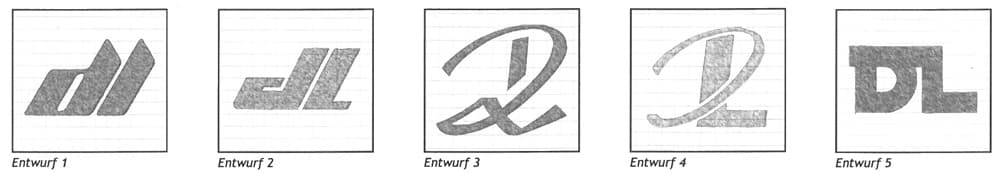 Entwurf eines Monogramms