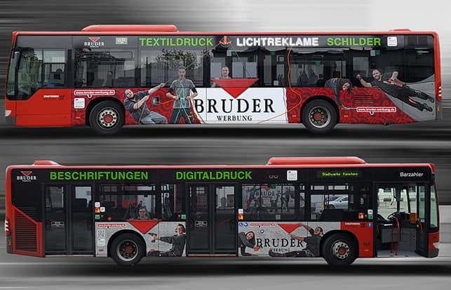 Stadtbus Beschriftung Werbung