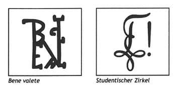 Bene valete und Studentischer Zirkel