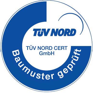 TÜV NORD Baumuster geprüft